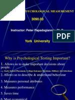 Introduction-Principles of Psychological Measurement
