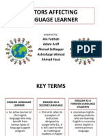 Factors Affecting language learner