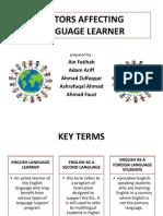 Factors Affecting language learner