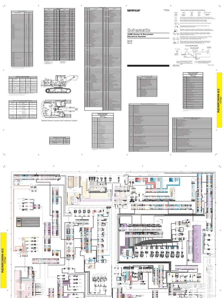 Caterpillar 345b Ecm Wiring Diagram Trusted Ignition Switch Serie Ii Excavator Electrical System