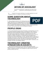 Assginment of Sociology