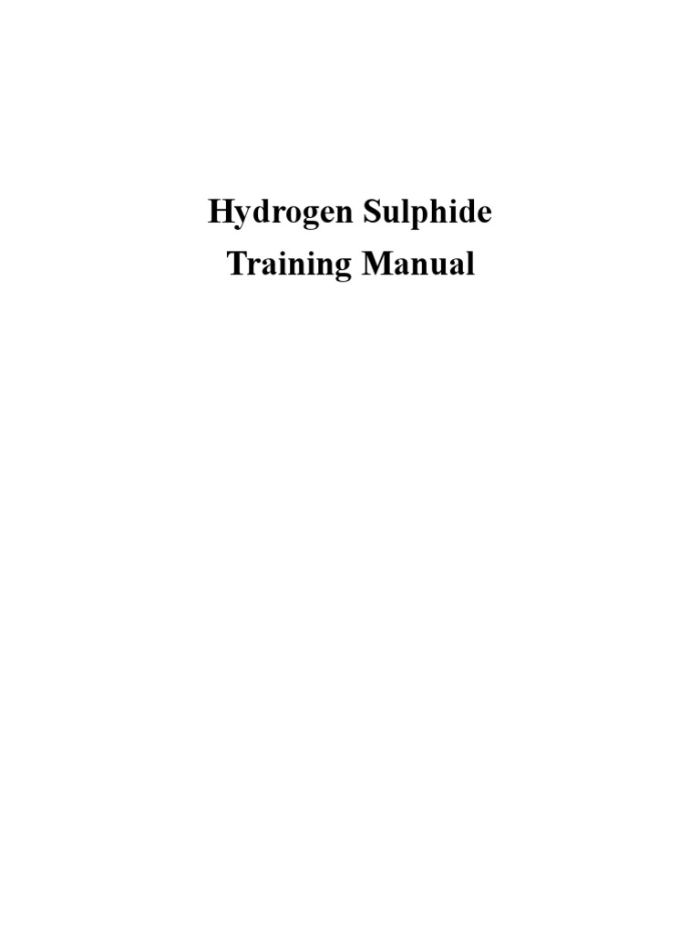 H2s Manual Pipeline Transport Oil Well