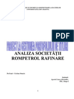 Analiza Societatii Rompetrol Rafinare