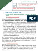 fiche 2- La conflictualité sociale pathologie ou facteur d'intégration