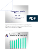 presupuesto para educación Uruguay 2012