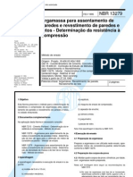 NBR 13279 - Argamassa Para Assentamento de Paredes - Resistencia a Compressao