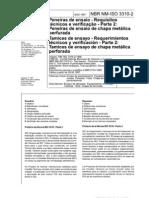 NBRNMISO 3310-2-1997 - Peneiras de Ensaio - Requisitos Tcnicos e Verificao - Parte 2