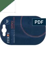 ZEIKOS - Rechargeable Battery