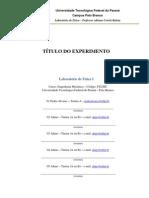 Modelo de Relatório IV - UTFPR - Prof Adriano Correa - Física 2 - FI22MC 2012-2