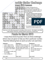 Mr Pitts' 7th Monthly Challenge - March 2013