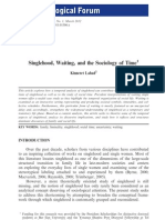 Singlehood, Waiting, And the Sociology. Lahad