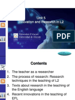 Innovation and Research in L2