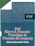 Principios de Filosofia Del Lenguaje Jose Hierro