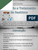 III-Tratamento de Resíduos