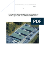 Typical Technical Specification for an Hvdc Transmission Project