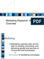 Market Research- An Overview