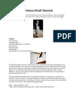 Wrap Skirt Pattern Draft Tutorial