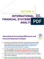 International Financial Analysis