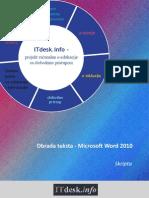 Microsoft Word 2010 Skripta