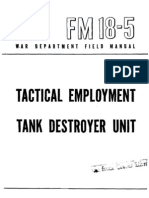 WW2 FM 18-5 Tank Destroyer Unit