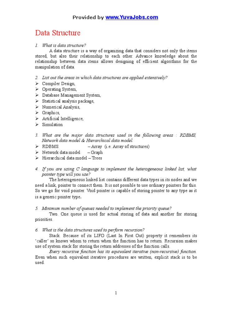 Data Structure | Pointer (Computer Programming) | Data Type