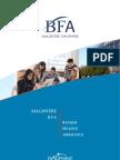 Plaquette Magistère BFA