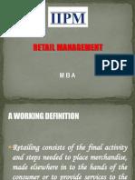 Retail Concept & Significance