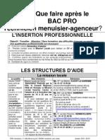 Apres Bacpro Tma Metiers Du Bois 2011-2012