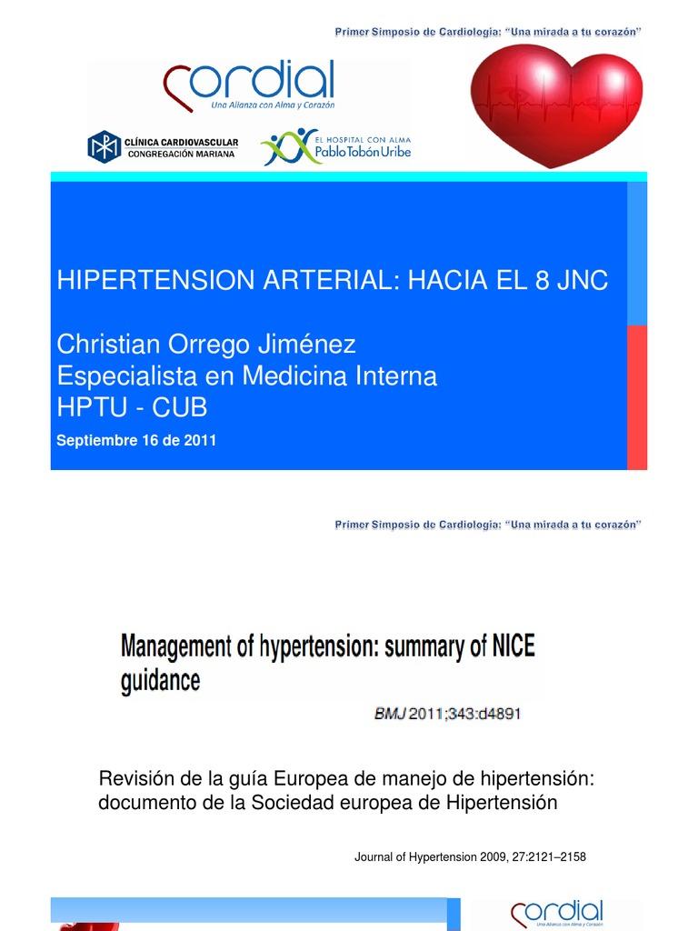Hipertension Arterial Rumbo a la jnc-8 - Hipertensión..