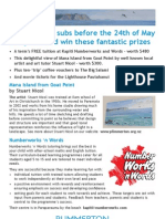 Plimmerton Residents' Association request for subscriptions 2013