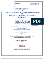 Mbe Reliance ProjectPROJECT REPORT