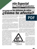 Boletin Especial Retiro del Partido del Pueblo Trabajador