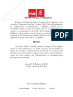 Ruego Grupo 2-2013 Cambio Salida Prueba Fondo Ciudad de Loja