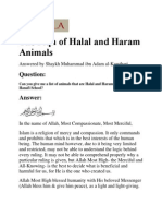 The Fiqh of Halal and Haram Animals