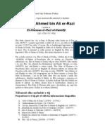 Ebu Bekr Ahmed bin Ali er-Razi (305-370H)