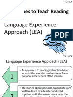 Approaches to Teach Reading  Language Experience Approach (LEA)