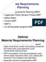 MRP (Material Requitments Planning)