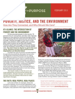Poverty, Justice, and the Environment