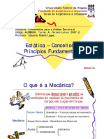 7 - Estatica - Conceitos e Principios Fundamentais