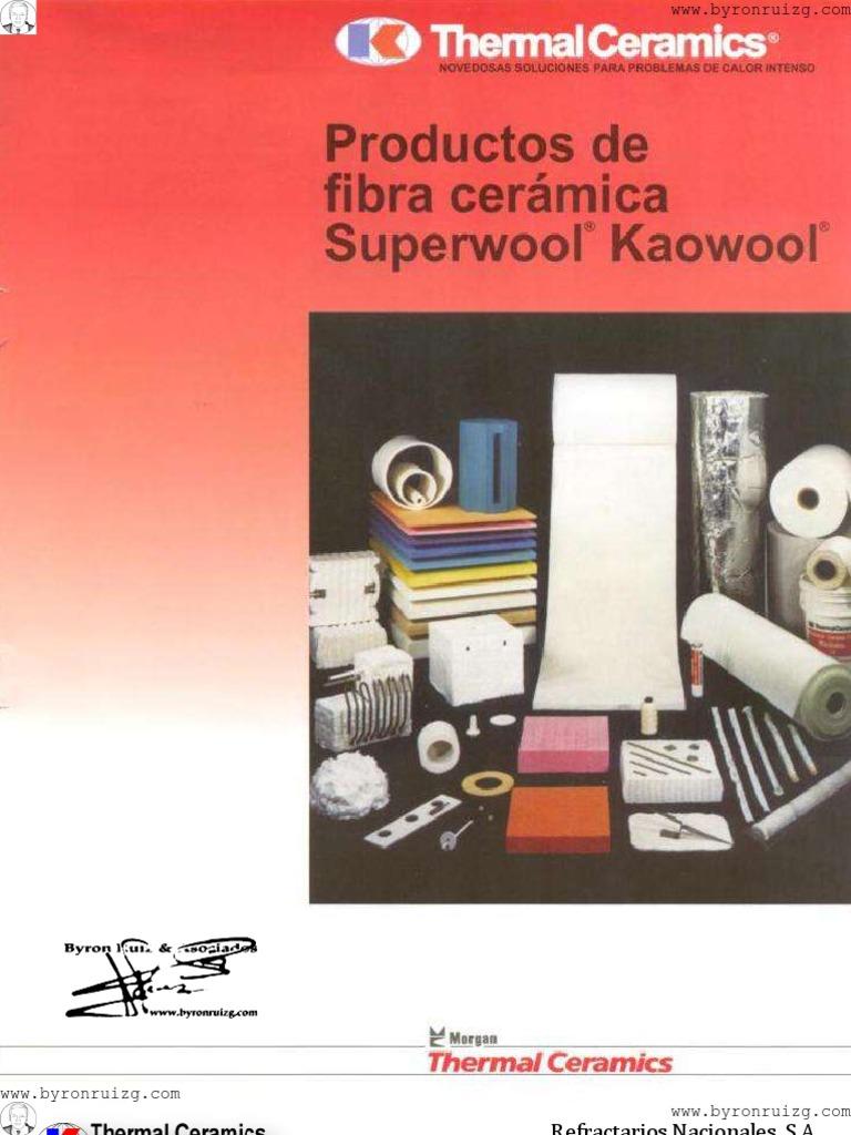 Productos de fibra ceramica superwool kaowool for Productos para ceramica