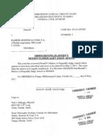 Order Denying Plaintiff's Motionto Disqualify Judge Arnold [Judge Arnold 5-4-11]