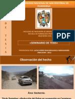 Presentación de plan de tesis