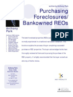 Purchasing Bankowned REOs