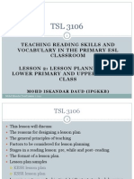 TSL3106 Lessons 2 and 3
