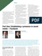 Establishing a presence in social media – Facebook