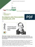 Investigação sobre Psicossomática e Reiki premiada pela APR