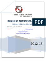Solved CSS MCQS of Business Administration