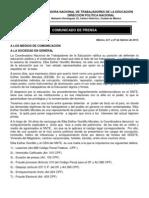 Comunicado Prensa, Febrero 27, 2013