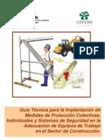 GUIA DE EQUIPOS DE SEGURIDAD EN  CONSTRUCCIÓN
