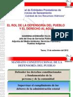 TEMA 4 -Presentacion - Defensoria y Derecho Al Agua Tacna